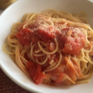 白ワインで♪トマトスパゲティ
