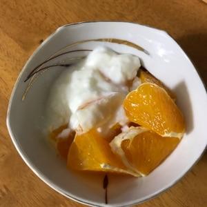 ダイエット中の朝食に♪シンプル・オレンジヨーグルト