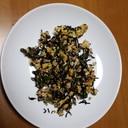 ひじき・ピーマン・炒り卵の味噌マヨ炒め