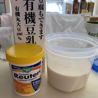 プロバイオティクスで豆乳ヨーグルト