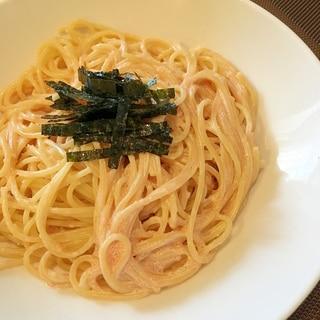 めんつゆ明太マヨのスパゲッティ
