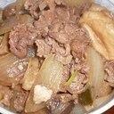 牛こま切れ肉ですき焼き風牛丼