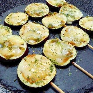 茄子と青唐からし味噌のチーズオーブン串焼きД`)ノ
