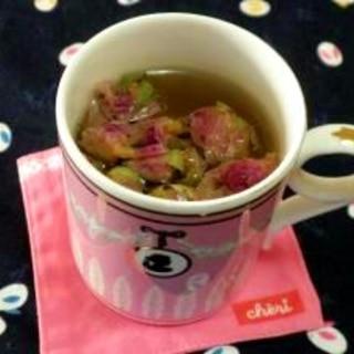 バラ茶でリラックス