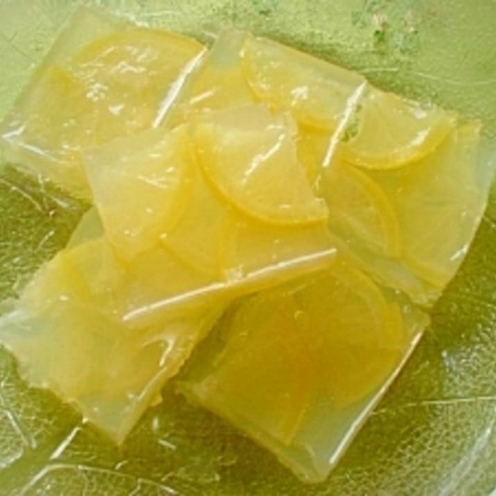 レシピ レモン ゼリー