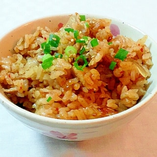 キムチ鍋リメイク炊き込みご飯