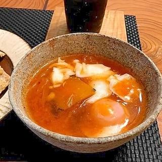 キムチとかぼちゃの味噌スープ