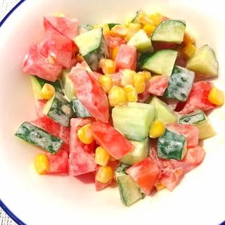 母の日に♪3種の彩り野菜サラダ