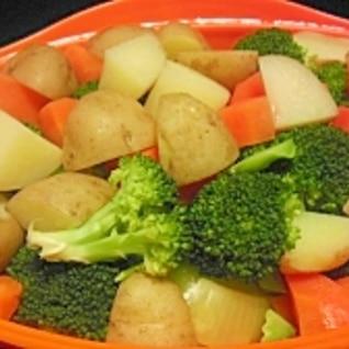 シリコンスチーマーで簡単温野菜♪