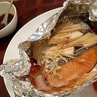 鮭とタコのホイル包み焼き