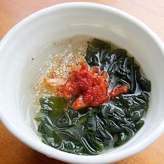 春雨スープに飽きたら♪クイックくずきりスープ