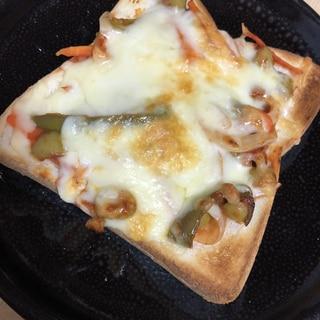 南蛮漬けリメイク   酸味がくせになるピザトースト