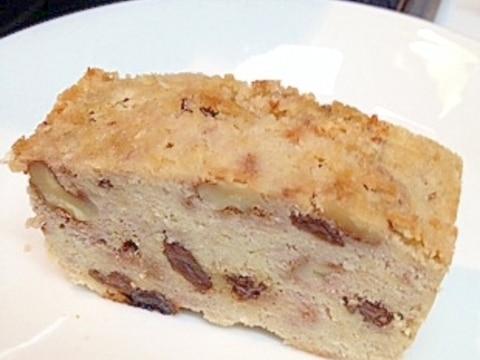 【糖質制限】どっしり★くるみとレーズンおからケーキ