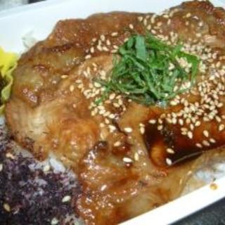 簡単♪ 豚肉の甘タレ焼きシソの葉添え(お弁当)