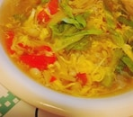 えのきとパプリカのスープ