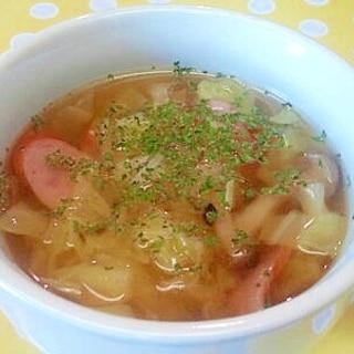 キャベツ&ウインナーのスープ