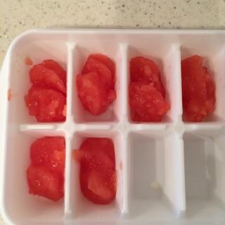 離乳食中期☆トマトの下ごしらえ