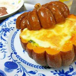 簡単!神田小菊かぼちゃのまるごとグラタン