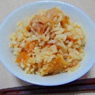 油面筋で中華風炊き込みご飯