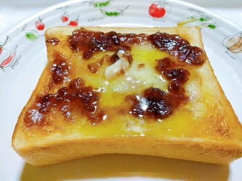 グリルで楽チン♪至福のあんバターハニートースト♡