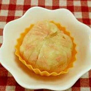 ジャガイモと鮭フレークの茶巾