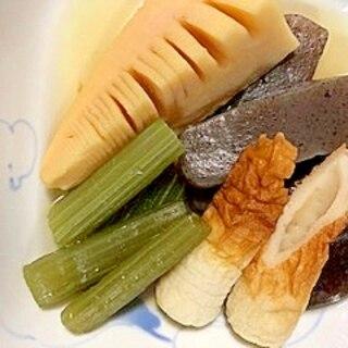 蕗、筍、こんにゃく、椎茸、ちくわの煮物
