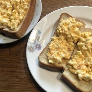 挟むより簡単♪卵のオープンサンド