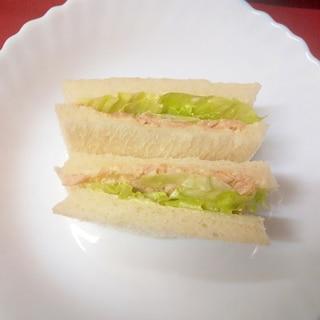 玉ねぎツナサンドイッチ