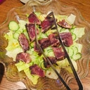 カツオとレタスのサラダ