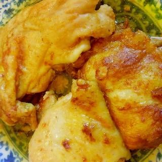 魚焼きグリルで、鶏モモ肉タンドリー風チキン