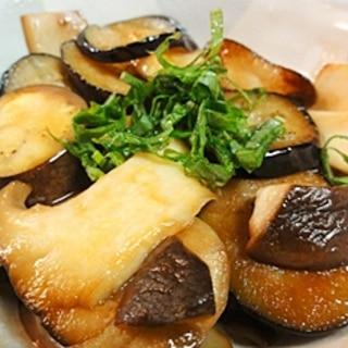 茄子とエリンギのバタポン炒め