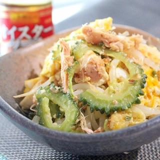 豆腐とツナのオイスター風味のゴーヤチャンプルー
