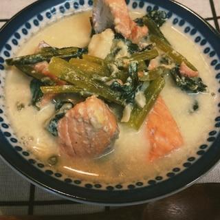 低糖質!減塩!鮭と豆乳のスープ♪
