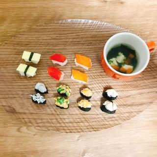 1歳のお祝い♪なんちゃって一口寿司