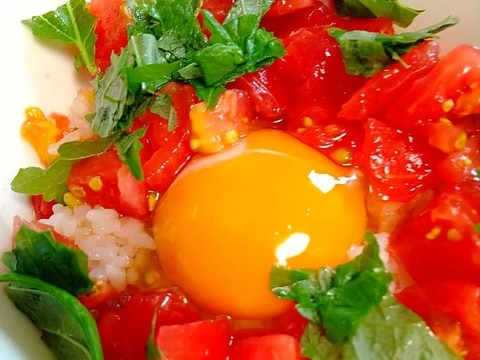 ☆トマト卵かけご飯☆