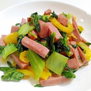 彩り華やか☆ボロニアソーセージとチンゲン菜の炒め物