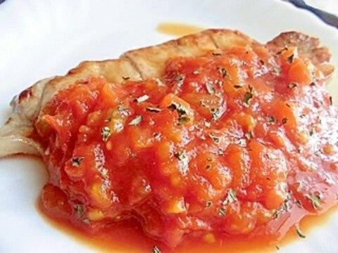 トマトソースのポークソテー