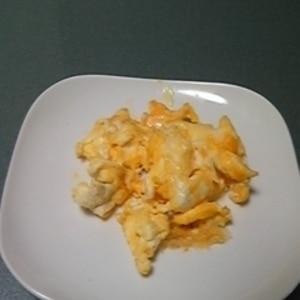チーズとケチャップを入れて♪スクランブルエッグ