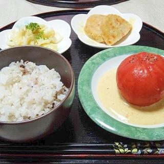 まるごとトマトサラダ(カレードレッシング)