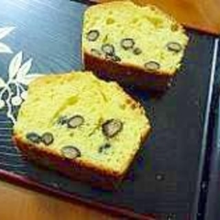 バター不要★黒豆パウンドケーキ