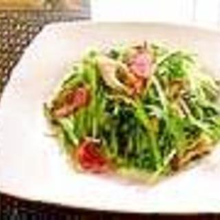 水菜とベーコン炒め
