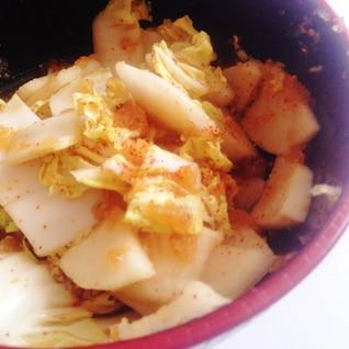 即席!簡単★白菜と大根のなんちゃって手作りキムチ★