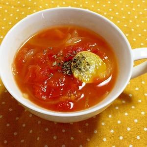 フレッシュトマトとズッキーニのスープ♪