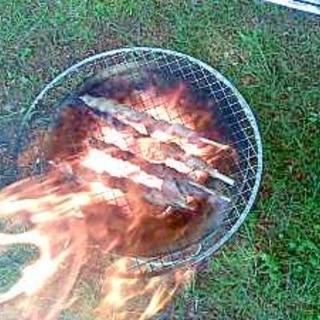 バラ肉の串焼き