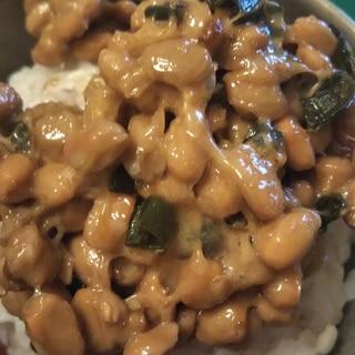 青唐辛子と納豆の甘味噌和え