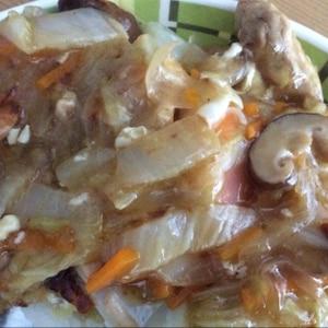 冷凍野菜ミックスde(^^)カンタン豚入り中華丼♪