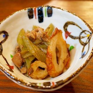 鯖缶入り蕗の炒め煮