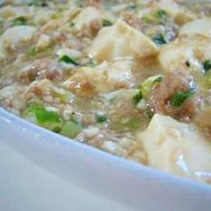 塩味の麻婆豆腐