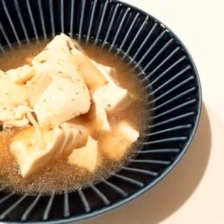染みてます。。牛丼?いや、豆腐さんです。