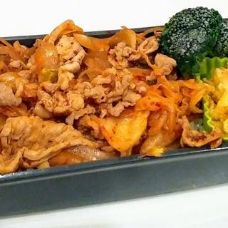 簡単!豚キムチ丼のお弁当♡